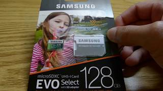 Yi 4K+ 128GB Samsung Evo Select MicroSD Card WORKS