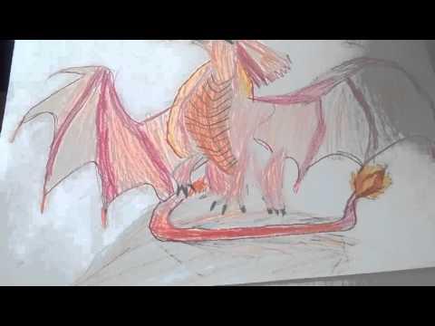 Мои рисунки драконов и фнаф!