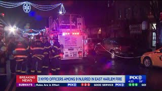 East Harlem apartment fire injures 9