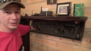 Hide Yo Guns -  Tactical Walls Rifle Shelf
