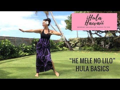 """DISNEY'S LILO & STITCH - """"HE MELE NO LILO"""" - HULA BASICS FOR BEGINNERS"""