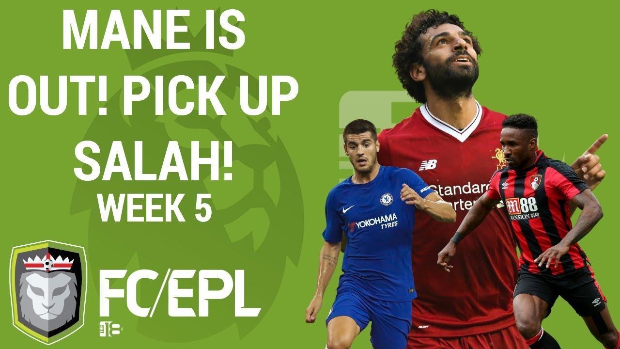 Week 5 fantasy football tips