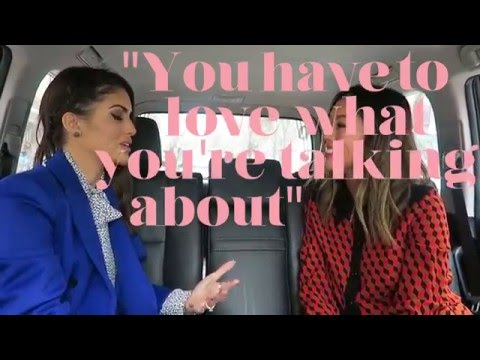 Aimee asks Camila Coelho during New York Fashion Week