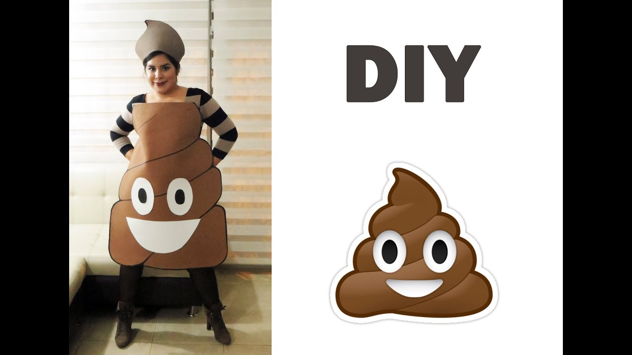 Diy poop emoji costume halloween 2014 youtube solutioingenieria Gallery