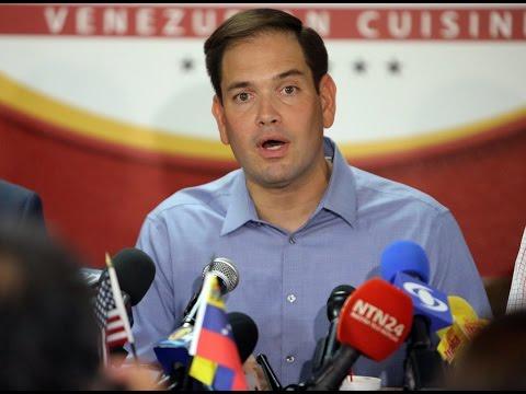"""Rubio califica a funcionarios de Venezuela de """"narcotraficantes"""""""