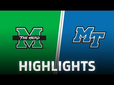 Highlights: Marshall at Middle Tennessee