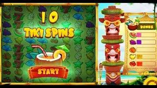 Machine à sous TIKI FRUITS - On cherche les Bonus Free Spins...