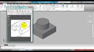 AutoCAD Asas 3D  EXTRUDE dan PRESSPULL