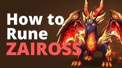 Summoners War - How to Rune ZAIROSS | ARENA & RTA
