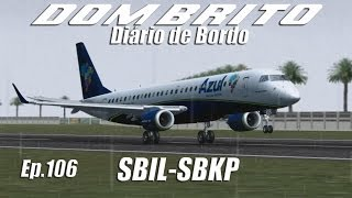 FS2004 - Embraer 195 Azul - Ilhéus / Campinas (SBIL-SBKP) - Ep.106
