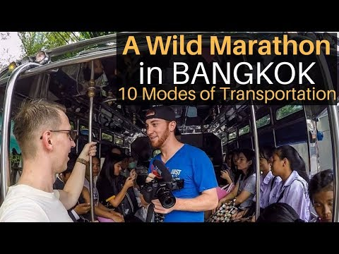 A Wild Marathon in Bangkok: 10 Modes of Transportation!
