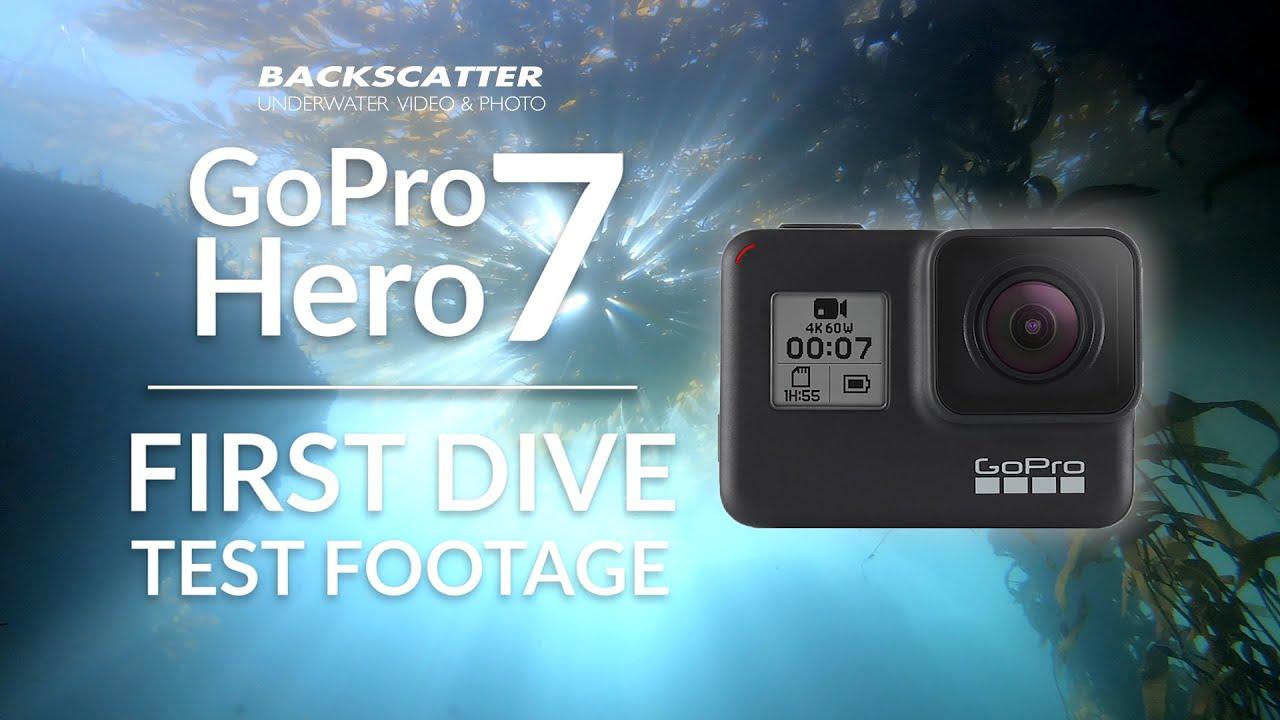 GoPro Hero 7 Black - First Dive Underwater Test Footage