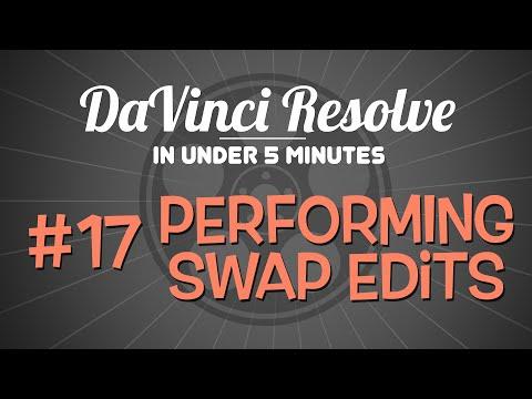 DaVinci Resolve in Under 5 Minutes: Performing Swap Edits in DaVinci Resolve 12