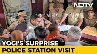 Yogi Adityanath's Surprise Check At Lucknow Police Station