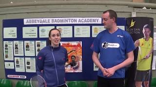 3 Tips for a better Backhand Clear in Badminton - Training with Chloe, Episode 1