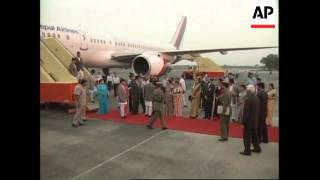 King of Nepal arrives in India - 2002