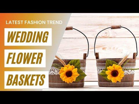 Wedding Flower Baskets Flower Baskets Gift Wedding Gift Flower Arrangements In Wedding Youtube