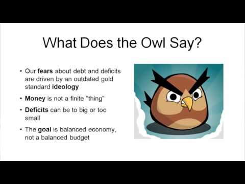 Stephanie Kelton:  What Is A Deficit Owl