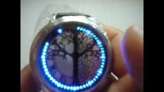 Stylish Blue Light Digital Touch Screen LED Wrist Watch with Black PU Band