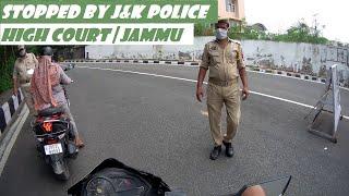 Stopped By J&K Police In Jammu High Court   Jammu Rider