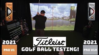 New 2021 Titleist ProV1 and ProV1x Golf Ball Testing
