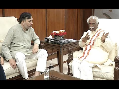 Delhi Labour Minister Sh.Gopal Rai Meets Minister of State for Labour Sh. Bandaru Dattatreya.