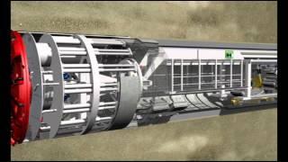 Tunnel Boring Machine Operation -- Animation