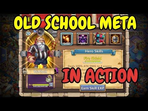 9/9 Wicked Armor Warlock In Action L Castle Clash