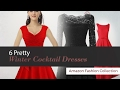 6 Pretty Winter Cocktail Dresses Amazon Fashion Collection