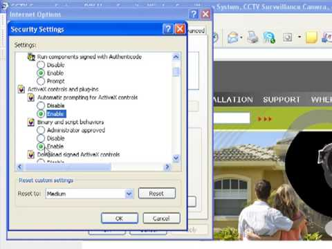 How to enable ActiveX in internet explorer Q See DVR
