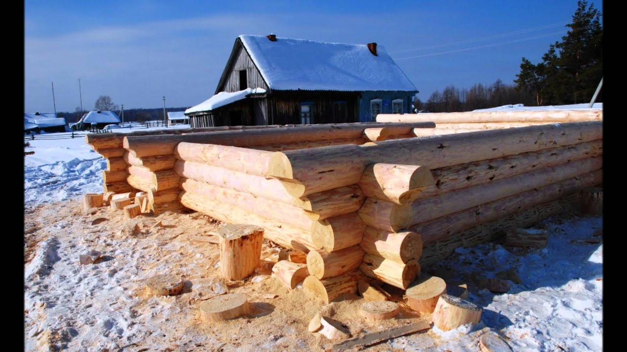 Срубы деревянных домов и бань из Мордовии зимой - YouTube