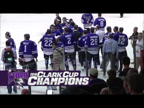 Tri-City Storm final minutes and Clark Cup celebration: 2016_05_20