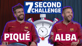 7 SECOND CHALLENGE | RAKUTEN CUP EDITION | Gerard Piqué vs Jordi Alba