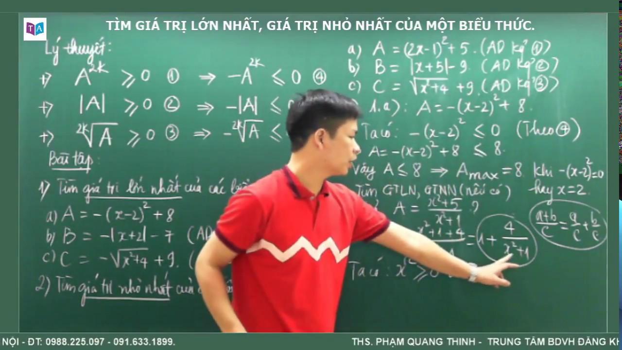 Toán 7 – Tìm giá trị lớn nhất, giá trị nhỏ nhất của một biểu thức.