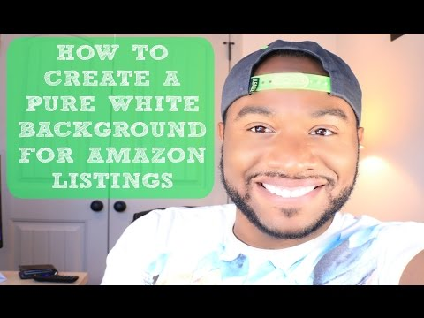 How To Create White Background For Amazon Listings