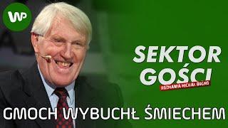 Jacek Gmoch zrywał boki ze śmiechu. Rozbawiły go... własne cytaty - Sektor Gości 100 [cały wywiad]