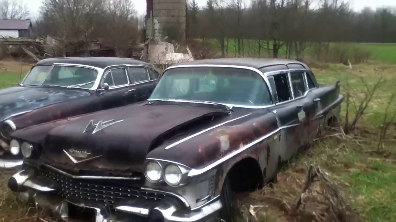 1958 Cadillac Fleetwood 75 limo and 1951 Hudson Hornet ...