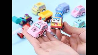 D LIVE Push And Go Cartoon Car Toys Play Set Toddler Toys Car Set Early Educational Toys Best Gifts6