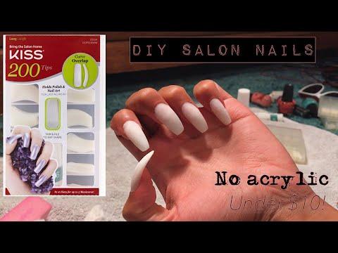 DIY Salon Nails under $10!! || KISS Full Cover Nail kit | C'est La Tee
