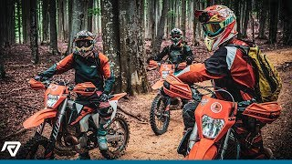 Two beginners learn enduro for the first time.