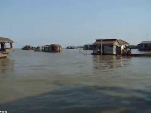 """Floating village. Siem Reap, Cambodia. - """"Tonle Sap Lake """"."""