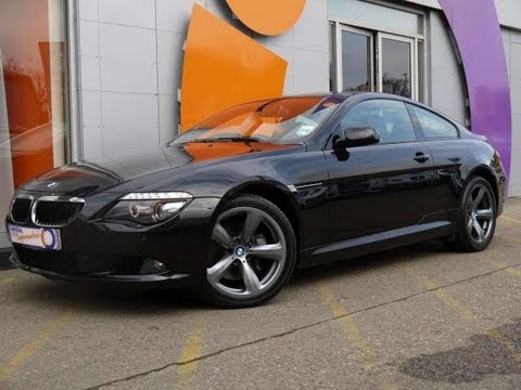 2008 BMW 635d Sport Coupe Black For Sale In Hampshire - YouTube