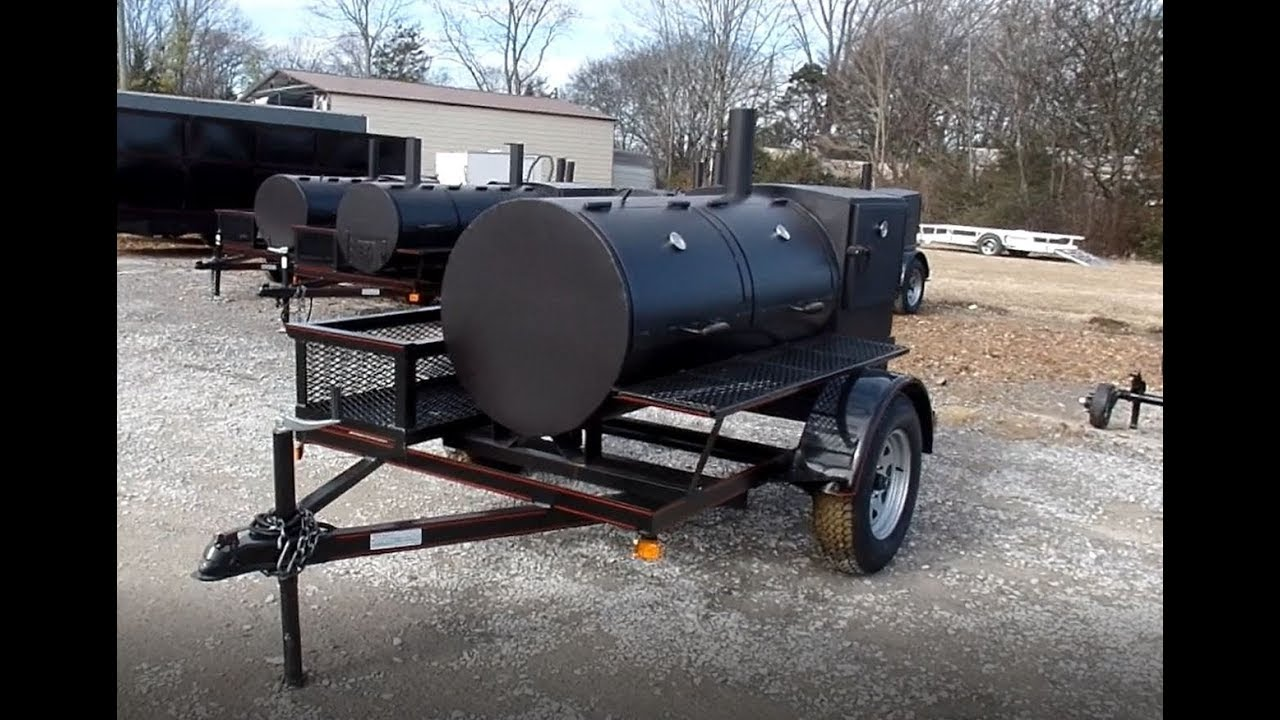 Smoker Trailer Wood 59