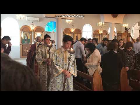 Η Χριστουγεννιάτικη Θεία λειτουργία στηνΟρθόδοξη Εκκλησία του Αγίου Γεωργίου στο μακρινό Χόμπαρτ