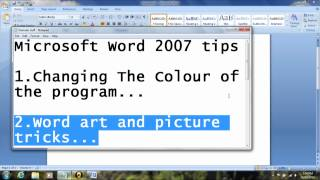 Microsoft Word 2007 Tips and tricks