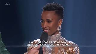 Final Question Miss Universe 2019 Zozibini Tunzi From South Africa