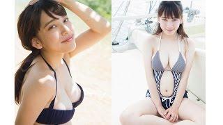 17歳女子高生が初水着でたわわな巨乳を披露!都丸紗也華の美少女Fカップ...