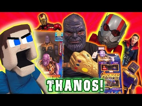 PUPPET STEVE VS THANOS?! Avengers Infinity War Movie Toys Iron Man Action Figures Marvel Figuarts
