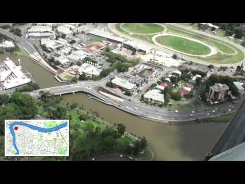Brisbane River aerial highlights