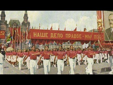 Сталин. 1947 год. Парад физкультурников. Stalin. 1947 year. Athletes Parade